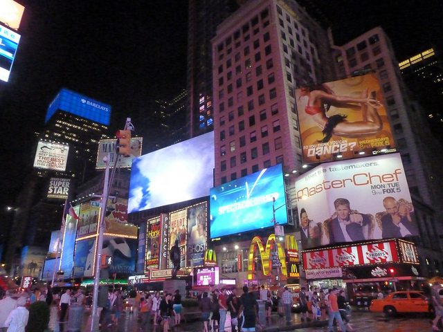 Times Square billboard advertising MasterChef. Photograph by