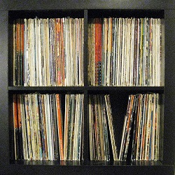 Ikea space saving shelves for vinyl records