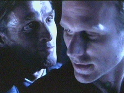 John Glover and Peter Horton in Brimstone.