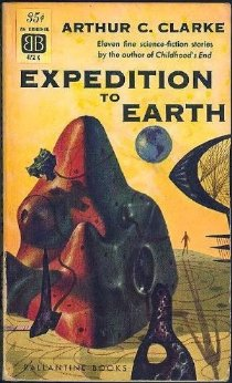 """Expedition to Earth"" - 1961 edition with cover art by Richard M. Powers."