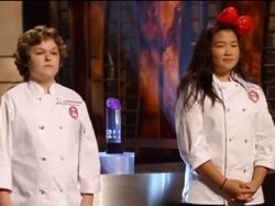 Alexander and Dara in the MasterChef Junior finale.