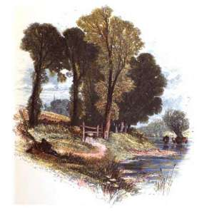 Sunday walks illustration by Myles Birket Foster