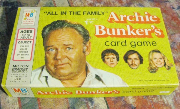 All in the family card game 1970's