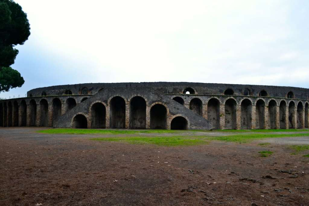 Exterior of the Pompeii Amphitheatre