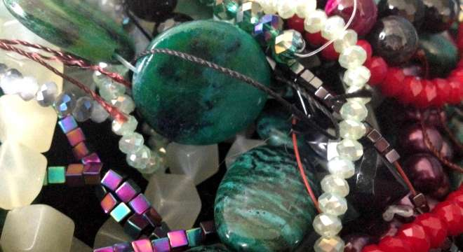Bead strands in my collection, ready to be turned into new jewelry designs!