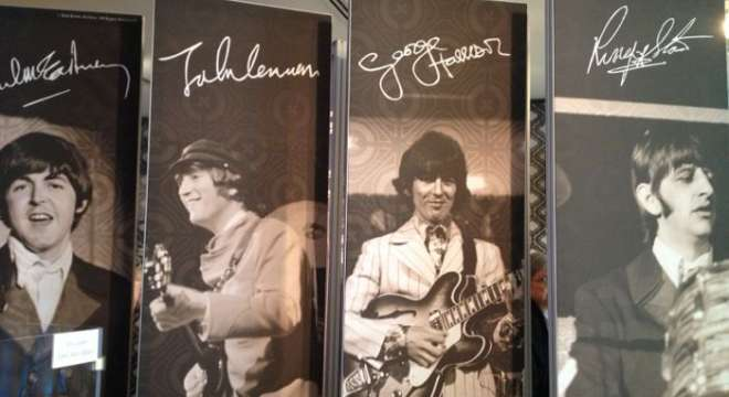 """""""Ladies and Gentlemen...The Beatles!"""" exhibit at the New York Public Library for the Performing Arts."""