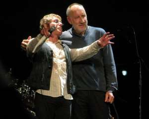 Roger Daltrey and Pete Townshend on stage, October 26, 2008. Photograph by the author, sockii.