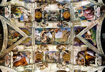 Michelangelo Creation Sistine Chapel Art Poster Adam