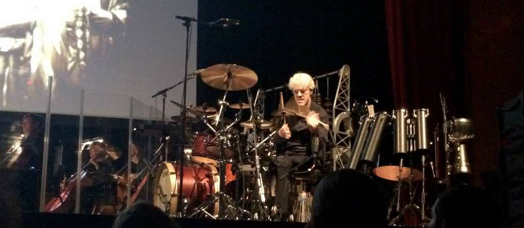 Stewart Copeland performs April 19, 2014 with the Virginia Arts Festival Orchestra.