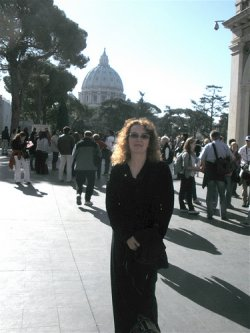 The author at the Vatican Museums in 2009, on the day of our Patrons' visit.