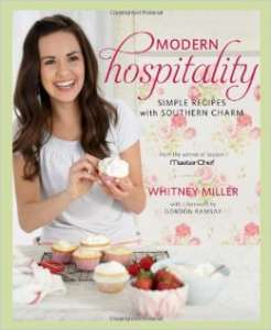 "First season winner Whitney Miller's cookbook, ""Modern Hospitality""."