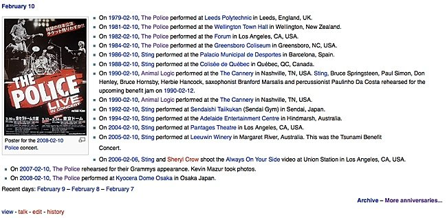 """On this day in Police history..."" - One of the ongoing features at The PoliceWiki."