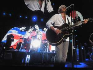 Roger Daltrey on stage with The Who, February 22 2013.
