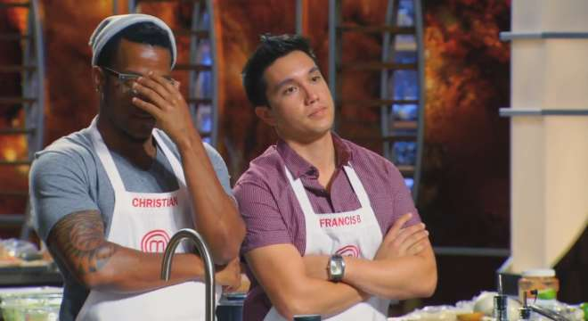 Screencap from the July 7, 2014 episode of MasterChef.