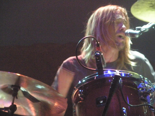 Taylor Hawkins on stage, May 6, 2010.