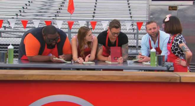 Screencap from the August 11, 2014 episode of MasterChef.
