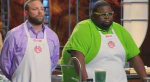 Screencap of Cutter and Willie in this episode of MasterChef.