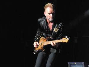 Sting on stage during the 2007-2008 Police reunion tour. Photograph by the author, sockii.