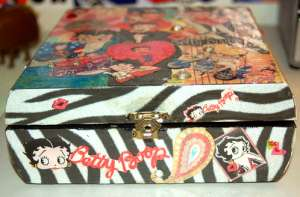 Decoupaged Wooden Box