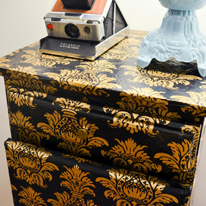 Decorative Decoupage Night Stand