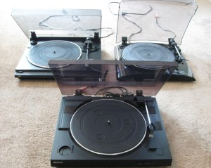 JVC Sony Ion Record Players