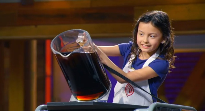 Screencap from MasterChef Junior, November 11 2014 episode.