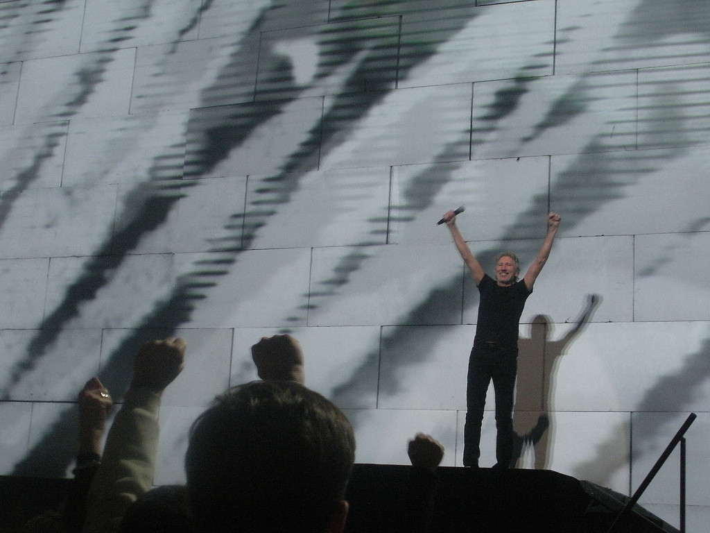 Roger Waters performing The Wall on November 8, 2010. Photograph by the author, sockii.