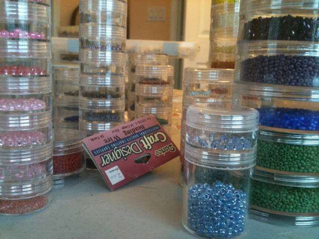 Organizing beads can be a major project!