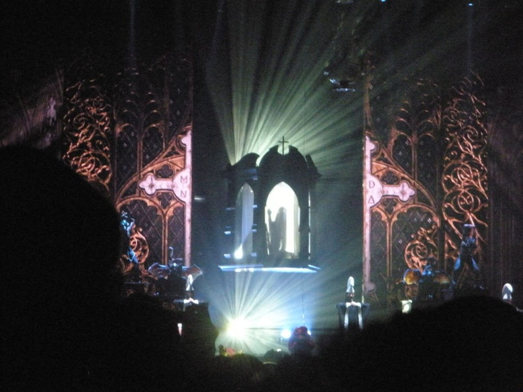 The opening of Madonna's MDNA show. Photograph by sockii.