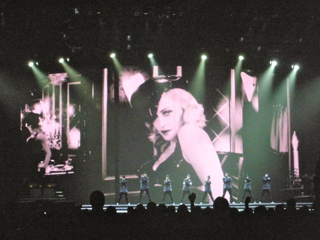 """Justify My Love"" at the Madonna's MDNA show. Photograph by sockii."