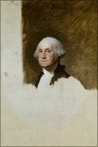 """The Athenaeum Portrait"" by Gilbert Stuart."