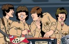 Limited Edition Art Print Beatles at Shea Stadium by Anthony Parisi.