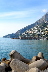 The Amalfi Coast as seen from the town.