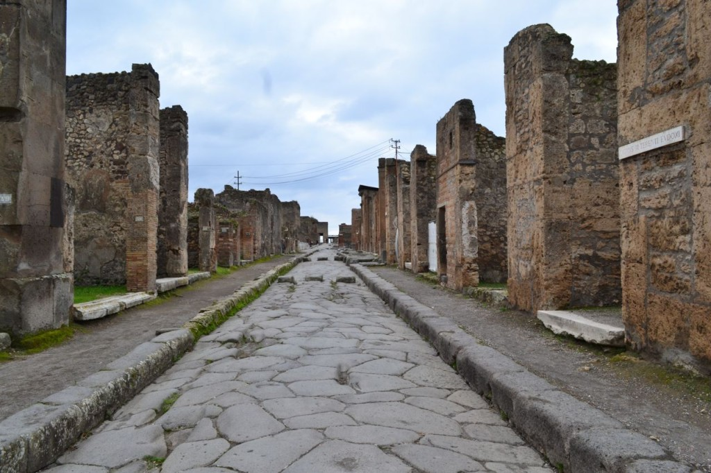 A street in Pompeii, January 2014.