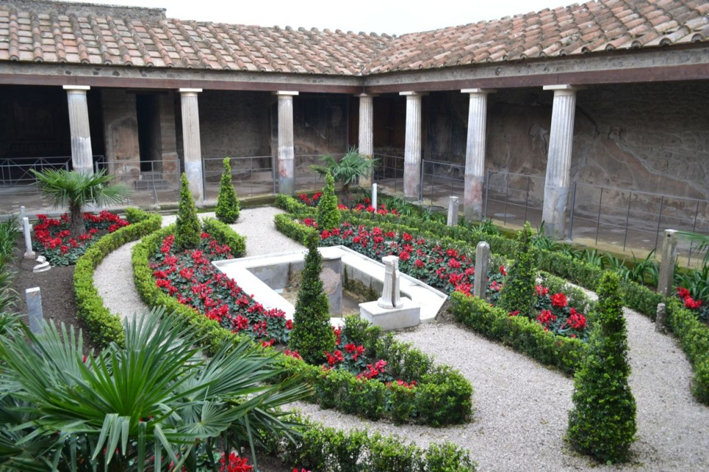 You may find gardens planted to recreate how they might have looked in 79 AD before the eruption of Vesuvius.
