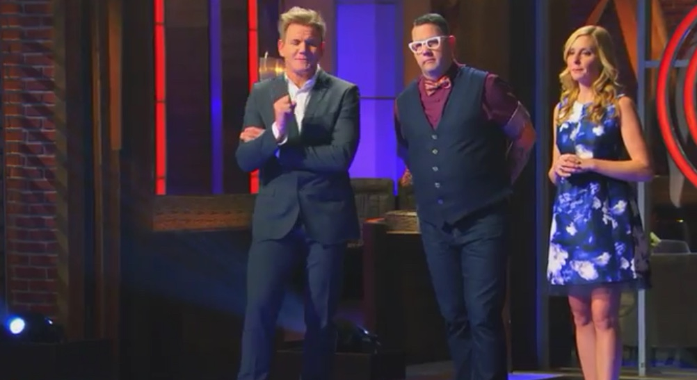 """Screencapture from the May 20, 2015 episode of MasterChef, """"The Battle Continues""""."""