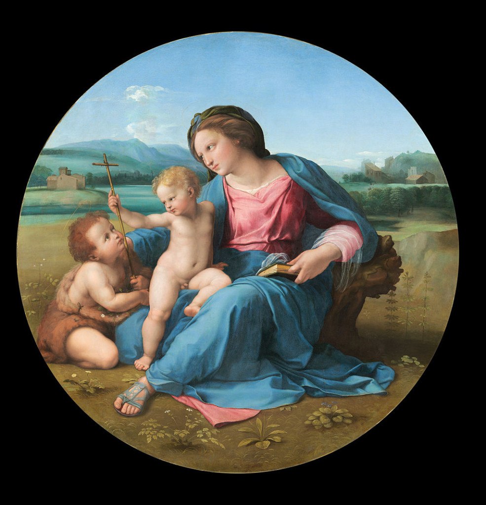 "Raphael, ""The Alba Madonna"". On display at the National Gallery of Art."