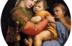 "Raphael's ""Madonna della seggiola"", currently in the collection of the Palazzo Pitti in Florence, Italy."