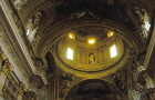 Inside Sant'Ignazio Church in Rome, Italy.