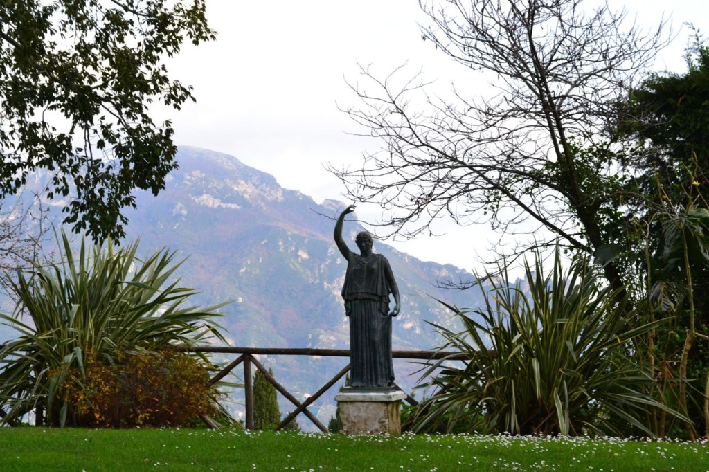 Sculpture fills the gardens at Villa Cimbrone, creating a contemplative space.