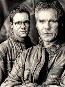 Portrait of Jack and Daniel from Stargate SG-1.
