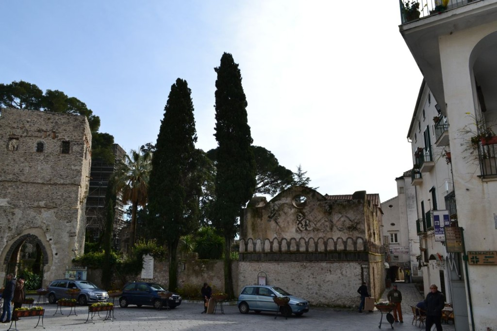 The main piazza of Ravello.