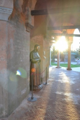 A statue outside of a Torcello church