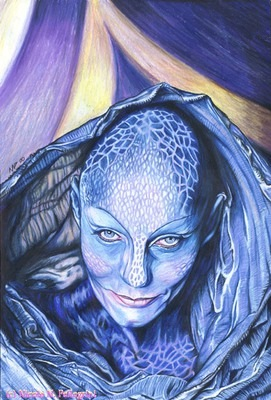 Portrait of Zotoh Zhaan from Farscape - one of my award-winning pieces of fan art.