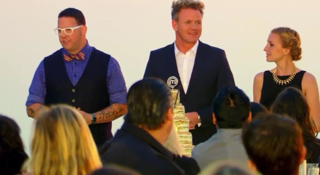 "Screen capture from the MasterChef season 6 episode ""Happy Birthday MasterChef""."