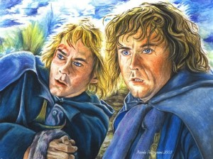 "Merry and Pippin from ""The Lord of the Rings"" trilogy."