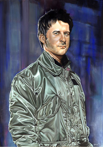 Portrait of John Sheppard of Stargate: Atlantis.