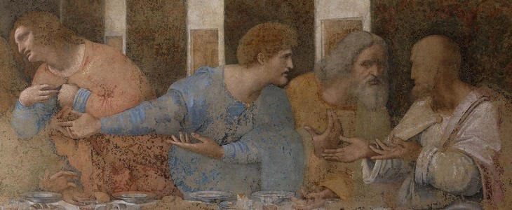 "Leonardo da Vinci's ""The Last Supper"" in detail"