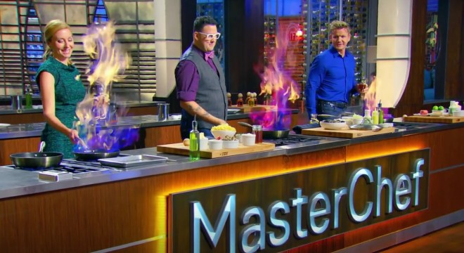 """Screencapture from the August 5 2015 episode of MasterChef, """"A Little Southern Flair""""."""