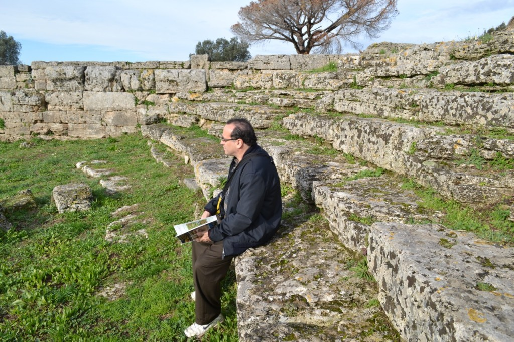 Take a seat: there are the remains of a Roman Comitium and Greek Ekklesiasterion used for meetings and discussions.